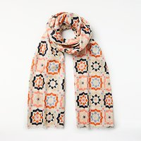 Unmade Telis Abstract Pattern Cotton Scarf