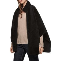 Gerard Darel Grazia Sheepskin Reversible Coat, Blue