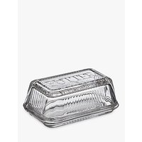 John Lewis Croft Collection Glass Butter Dish, Clear