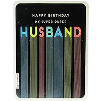 Art File Super Duper Husband Birthday Card