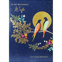 Sara Miller Wonderful Wife Birthday Card