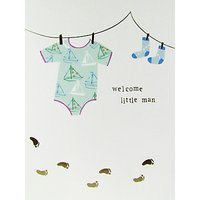 Caroline Gardner Welcome Little Man Baby Boy Card