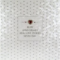 Five Dollar Shake Crystal Heart Ruby Anniversary Greeting Card