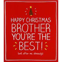 Happy Jackson Brother You're The Best Christmas Card