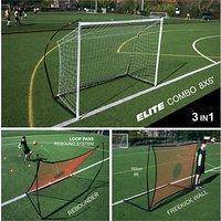 Quickplay Spot Elite 8 X 6 Combo Goal & Rebounder
