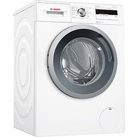 Bosch WAN28002GB Freestanding Washing Machine, 8kg Load, A+++ Energy Rating, 1400rpm Spin, White