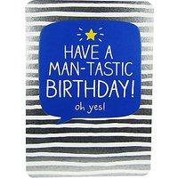 Happy Jackson Man-Tastic Birthday Card