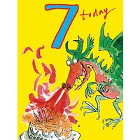 Woodmansterne Dragon Breath Fire 7th Birthday Card