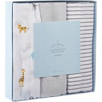 John Lewis & Partners Baby Large Safari Muslin Cloths, Pack of 3, Multi