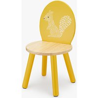 John Lewis Forest Friends Squirrel Chair, Yellow