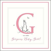 Alice Scott Baby Girl Rabbit Card