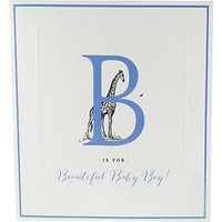 Alice Scott Baby Boy Giraffe Card