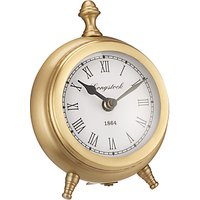 John Lewis and Partners Small Round Table Clock, H16cm