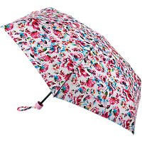 Fulton Soho Digital Rose Print Umbrella, Pink