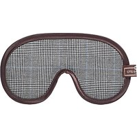 Otis Batterbee Prince of Wales Check Eye Mask, Grey