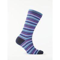 Ted Baker Fine Stripe Socks, One Size, Navy
