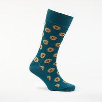 Paul Smith Sun Motif Socks, One Size, Teal