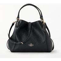 Coach Edie 28 Leather Shoulder Bag