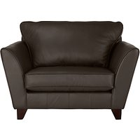 John Lewis Oslo Leather Snuggler, Dark Leg