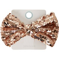 John Lewis Girls' Large Sequin Bow Hair Clip, Gold
