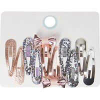John Lewis Girls' Sparkly Hair Clips, Pack of 10, Multi