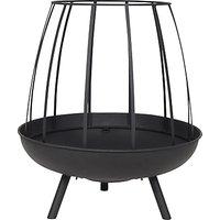 La Hacienda Horsley Round Basket Firepit, Black