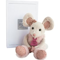 Doudou et Compagnie Glitter Mouse Soft Toy, 25cm