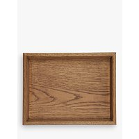 Croft Collection Oak Wood Stacking Tray, Natural, Small