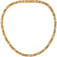 Susan Caplan Vintage 1980s DOrlan 22ct Gold Plated Faux Pearl and Swarovski Crystal Collar Necklace, Gold/Multi