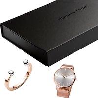 Abbott Lyon AL3509 Womens Stellar Bracelet Strap Watch and Bangle Gift Set, Rose Gold/Silver