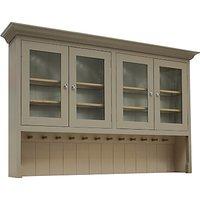 Neptune Suffolk 6ft Glazed Rack Dresser, Honed Slate