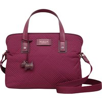 Radley Deco Stripe Quilted Medium Cross Body Bag, Berry