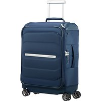 Samsonite Flux Soft Spinner 4-Wheels Cabin Suitcase, Navy Blue