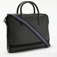Ted Baker Lowme Leather Document Bag, Black