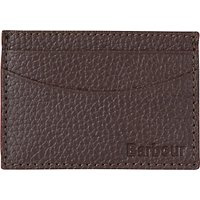 Barbour Grain Leather Card Holder, Brown