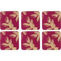 Sara Miller Etched Leaves Coasters, Set of 6