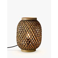 John Lewis Adra Bamboo Vessel Table Lamp, Natural