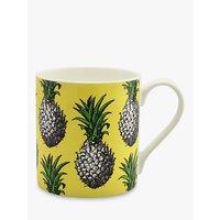 Alice Scott Yellow Pineapple Mug, Yellow/Multi, 400ml