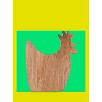 John Lewis Rooster Mango Wood Chopping Board, Natural