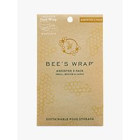 Eddington Bee's Wrap Honeycomb Reusable Sandwich Wraps, Assorted, Pack of 3
