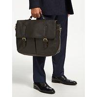 shop for John Lewis & Partners Salzburg Leather Briefcase, Brown at Shopo