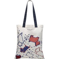 Radley Speckle Dog Canvas Medium Tote Bag, Natural
