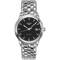 Longines L48744526 Men's Flagship Automatic Date Bracelet Strap Watch, Silver/Black