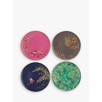 Sara Miller Chelsea Collection Birds Cake Plates, Dia.20cm, Assorted, Set of 4