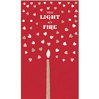 Art File Light My Fire Valentine's Day Card