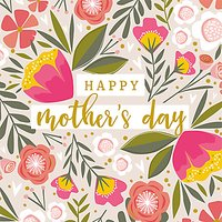 Art File Pink Flowers Mother's Day Card