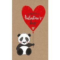Art File Panda & Balloon Valentine's Day Card
