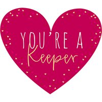 Belly Button Designs You're A Keeper Valentine's Day Card