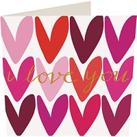 Caroline Gardner I Love You Hearts Valentine's Day Card