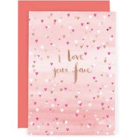 Hotchpotch Love Your Face Valentine's Day Card